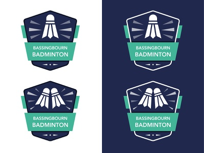 Badminton Logo badminton sport minimal flat branding vector logo design illustration
