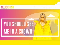 Billie Eilish Web UI