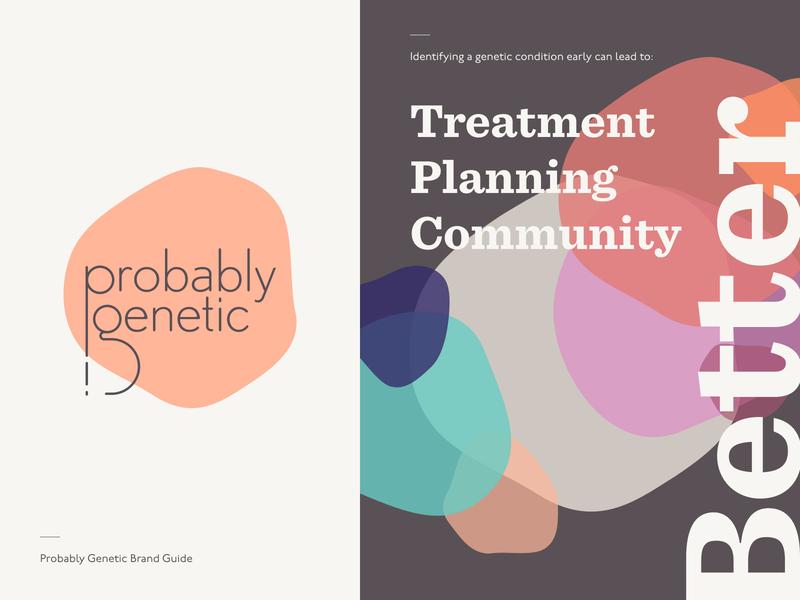 Probably Genetic - Brand Guidelines typography illustration branding logo startup brand design vector design