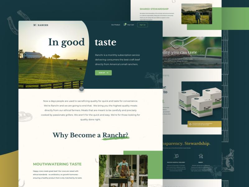 Ranchr - Brand Identity & Web Design (2/2) cpg identity branding d2c startup ranch meat cattle webdesign