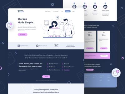 Safely Deposit Brand Identity & Website (1/2) illustration technology startup ui website design visual design