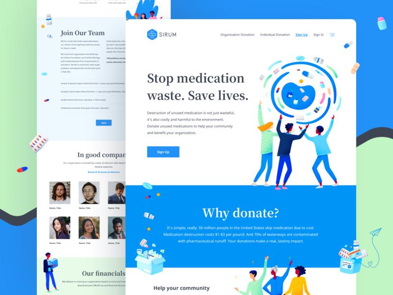 Sirum.org - Website & Brand Design (1/3) modern playful whimsical visual identity startup non-profit illustration brand brand design branding website