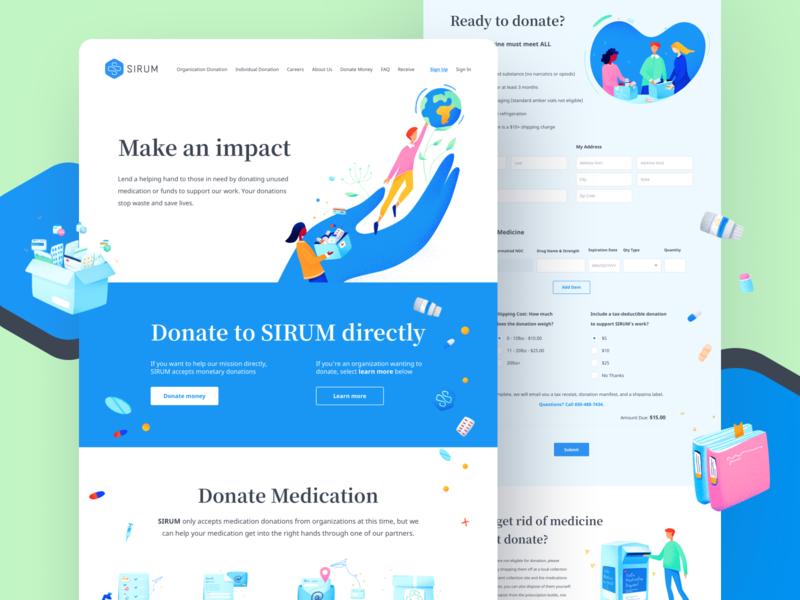 Sirum.org - Website & Brand Design (2/3) modern website webdesign non-profit nonprofit brand design startup design illustration branding