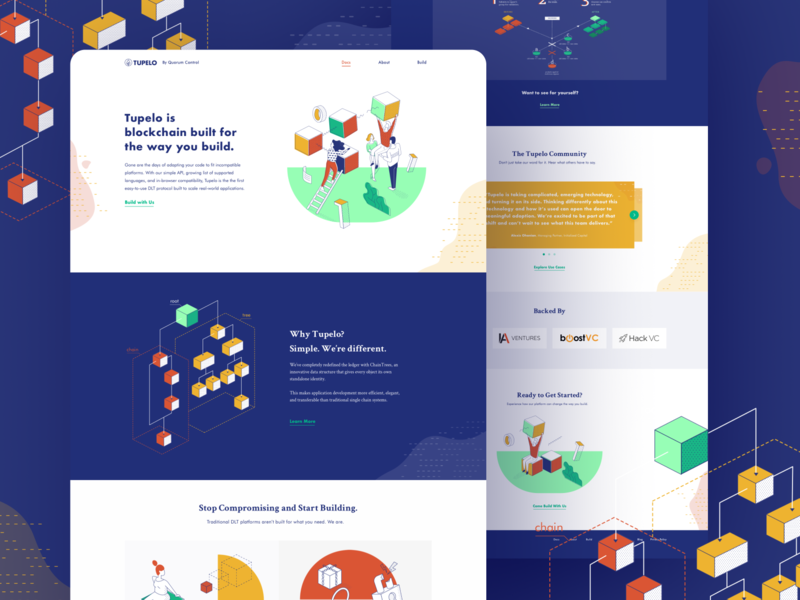 Tupelo –Website & Brand Design crypto cryptocurrency blockchain visual design illustration brand identity webdesign website homepage branding brand