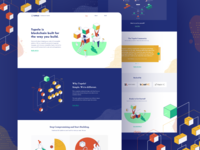 Tupelo – Website & Brand Design crypto cryptocurrency blockchain visual design illustration brand identity webdesign website homepage branding brand