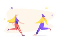 Fashion shop commercial illustration. Woman clothes