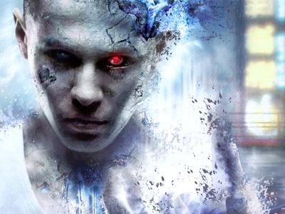 Cybernetic Organism - Album Art WIP album art album artwork cd cover sci-fi fantasy dark cyborg cybernetic futuristic disintegration energy