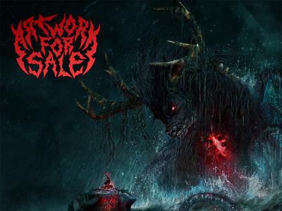 Invocation aka Iku Turso death metal seamonster monster mythology cover heavy album art metalart metal heavymetal album artwork