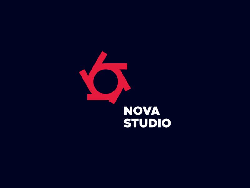 Nova Studio design modern logo hipernova nova studio futuristic pure geometric minimalism vector branding minimal
