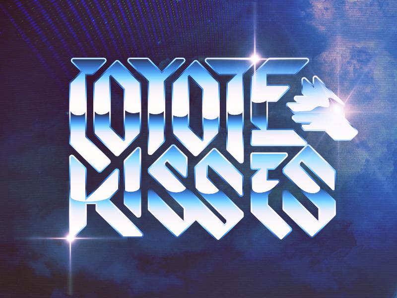 Coyote Kisses Logo logo chrome music custom type shred