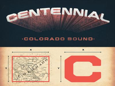 Centennial Typeface typography colorado block lettering
