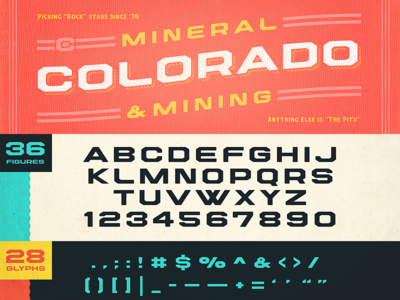 Centennial Typeface, take 2 typography colorado block lettering