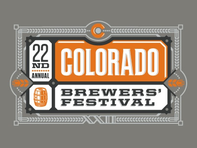 Brewfest 2011 logo typography wheat beer brewery colorado
