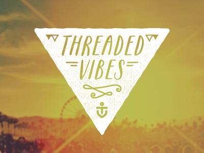 Threaded Vibes logo identity branding festival monogram