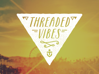 Threaded Vibes logo identity branding festival monogram