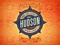 The Hudson Project identity logo badge compass hudson new york festival woven