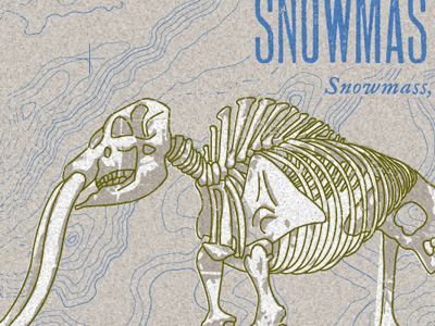 Snowmastodon t-shirt illustration mammoth