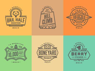 Trail Running Series '14 badge logo typography vail run