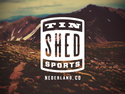Tin Shed (A) rejected logo sports mountain nederland colorado co typography badge