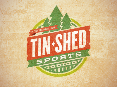 Tin Shed (B) rejected logo sports mountain nederland colorado co typography badge