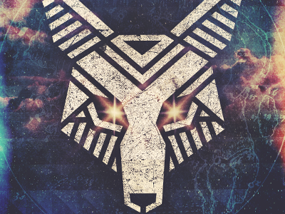 Coyoticon concept electro icon space coyote stars