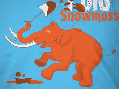 Snowmastodon II mastodon apparel illustration orange