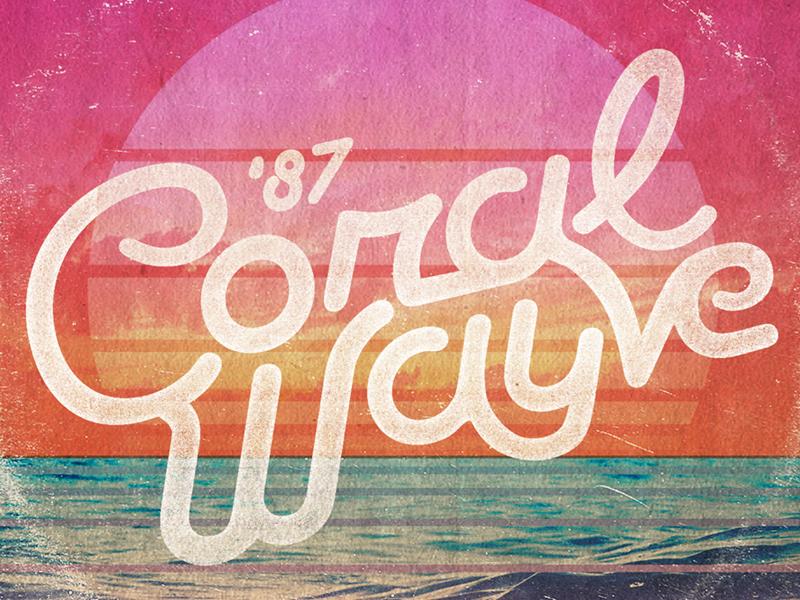 Coral Wayve Mixtape mixtape illustration typography retro summer