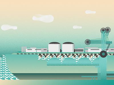 LNG flat vector illustration