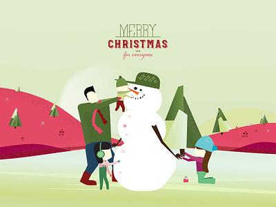 Merry Christmas :) vector flat illustration