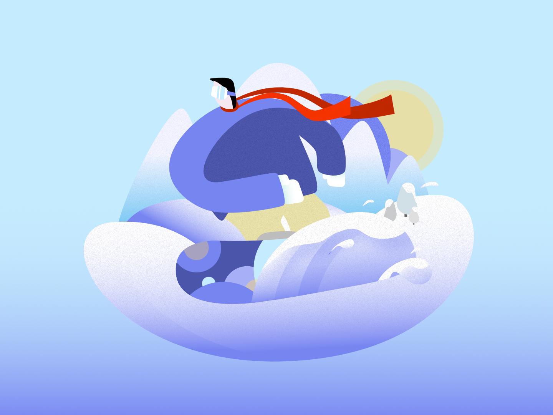 Snowboard Saturday :) vector illustration sport winter snow