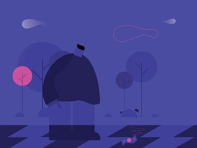 Night Happiness night vector illustration
