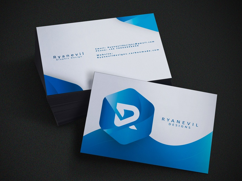 Personal Business Card Idea By Ryan Dribbble Dribbble