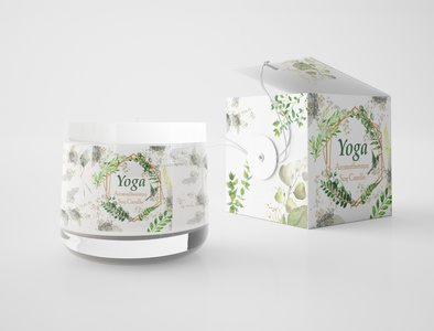 Soy Candle Packing branding