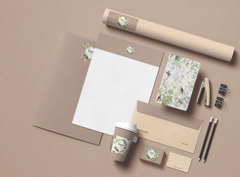 Stationery design stationery set