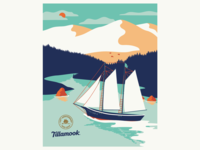Tillamook Poster Illustration