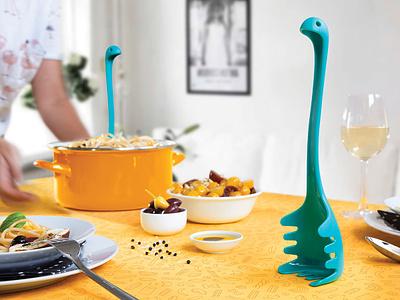 PAPA NESSIE \ Pasta Spoon design ototo lake loch ness legendary pasta spaghetti papa nessie nessie papa