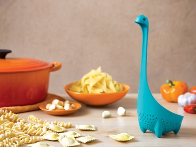MAMMA NESSIE \ Colander Spoon vegetable pasta ototo nessie mythical mamma loch ness ladle kitchen colander spoon