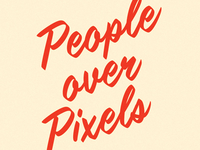 People over Pixels