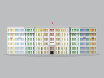 32/50: Former MICA Building flat design illustration buildings singapore architecture