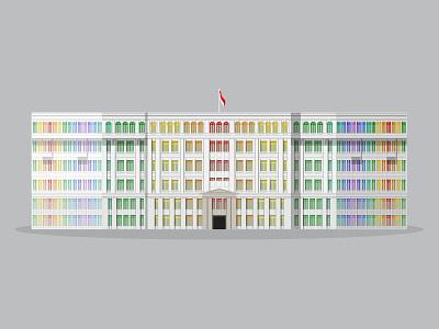 32/50: Former MICA Building flat design illustration buildings singapore architecture