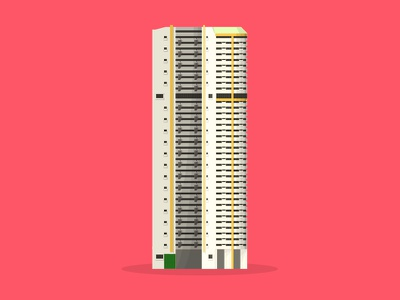 33/50: Pearl Bank Apartments bank pearl flat design illustration buildings singapore architecture