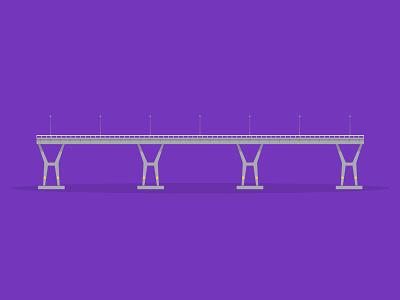 40/50: Benjamin Sheares Bridge bridge sheares benjamin flat design illustration buildings singapore architecture