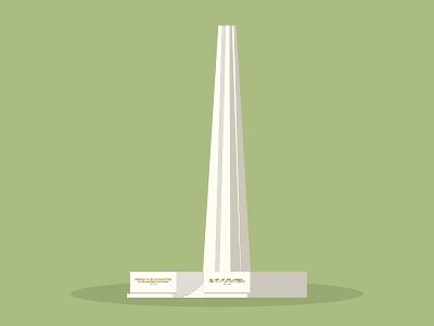 45/50: Civilian War Memorial singapore illustration flat design architecture buildings