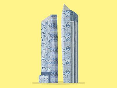 46/50: The Sail @ Marina Bay marina bay sail singapore illustration flat design architecture buildings