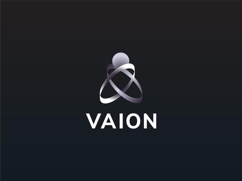 Vaion - Daily Logo Challenge: Day 5 - Driverless Car Logo visual identity car logo design driverless car driverless modern branding vector graphic design challenge logo daily dailylogochallenge