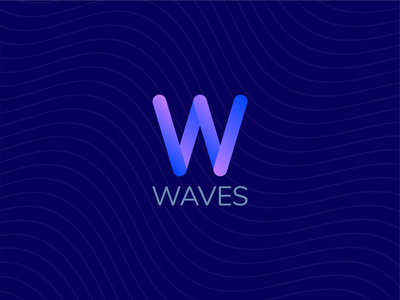 Waves - Daily Logo Challenge: Day 9 - Streaming Music Startup visual identity logos challenge wave waves streaming music logo mark daily color logo design logo illustration animation 2d animation branding vector graphic design dailylogochallenge