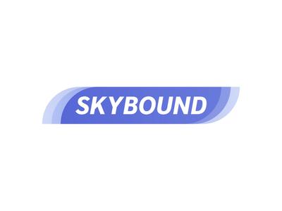 SkyBound - Daily Logo Challenge: Day 12 - Airline visual identity skybound start up startup airline logodesign challenge logos daily logo design logo dailylogochallenge animation 2d animation branding vector graphic design
