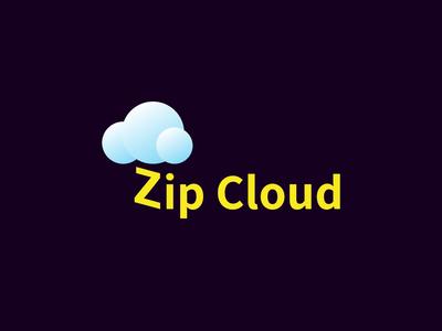 Zip Cloud - Daily Logo Challenge: Day 14 - Cloud Computing Logo cloud computing zip cloud zipcloud zip cloud lightning challenge logodesign daily dailylogochallenge logo design logo flat animation 2d animation branding vector graphic design