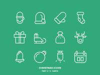 Christmas icons freebie2 santa lines