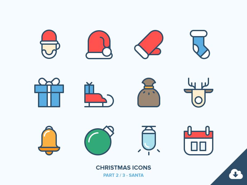 Christmas icons freebie2 santa